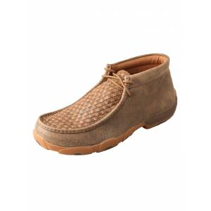 Twisted X Mens Chukka Basket Weave Driving Mocs