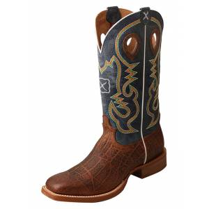 Twisted X Mens Ruff Stock Narrow Square Toe Boots