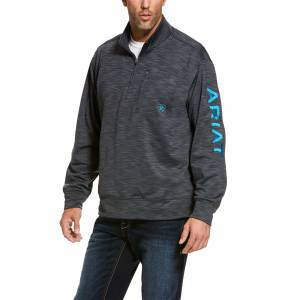 Ariat Mens Team Logo 1/4 Zip Top