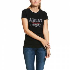 Ariat Ladies Flock Varsity Logo Short Sleeve T-Shrt