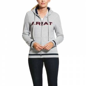 Ariat Ladies Full Zip Logo Hoodie