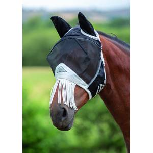 Shires Fine Mesh Fly Mask With Nose Fringe