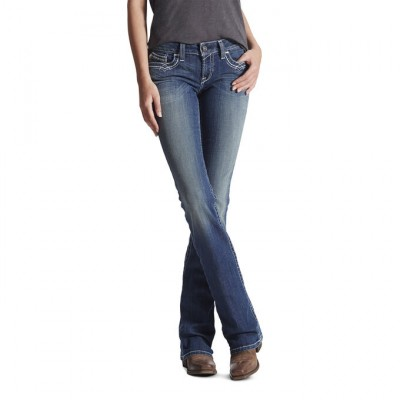 Ariat Ladies R.E.A.L Mid Rise Stretch Entwined Boot Cut Jeans