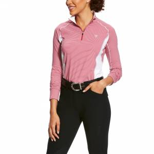 Ariat Ladies Tri Factor 1/4 Zip Baselayer Shirt