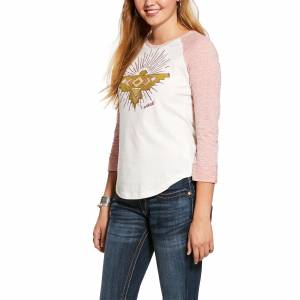 Ariat Ladies Rising Thunderbird 3/4 Sleeve Shirt
