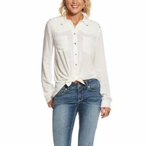 Ariat Ladies Pretty Pleat Long Sleeve Shirt