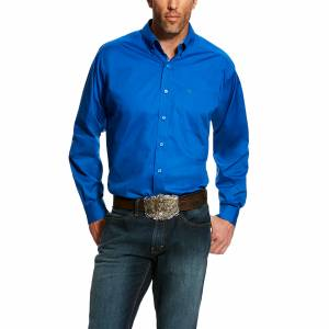 Ariat Mens Solid Long Sleeve Stretch Poplin Shirt