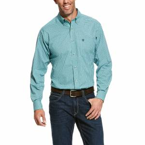 Ariat Mens Pro Series Ronan Stretch Fitted Long Sleeve Shirt