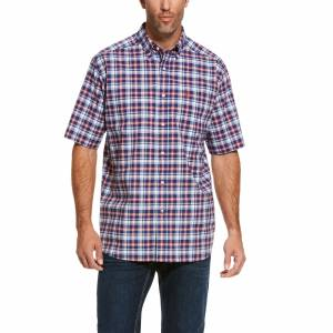 Ariat Mens Pro Series Ronaldson Stretch Short Sleeve Classic Fit Shirt