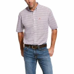 Ariat Mens Rivas Stretch Classic Fit Short Sleeve Shirt