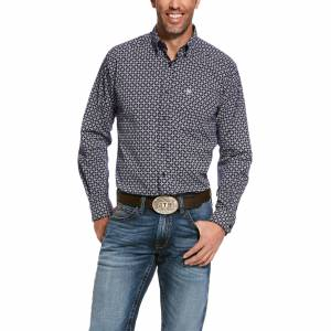 Ariat Mens Speakman Stretch Fitted Long Sleeve Shirt