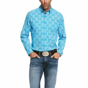 Ariat Mens Springfield Stretch Fitted Long Sleeve Shirt