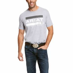 Ariat Mens Bar Stripe Short Sleeve T-Shirt