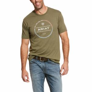 Ariat Mens Barbed Wire Short Sleeve T-Shirt