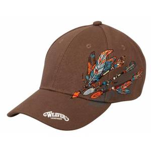 Weaver Feathered Flare Cap - Brown