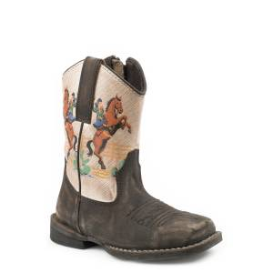 Roper Toddler Vintage Rodeo Square Toe Boots