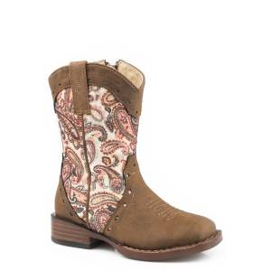 Roper Toddler Wide Square Toe Cowgirl Boots