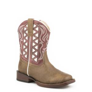 Roper Lacy - Toddler - Brown/Pink