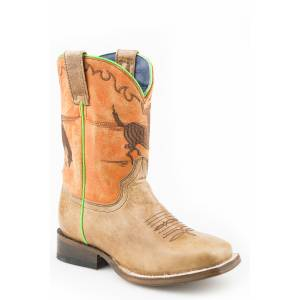 Roper Out West Square Toe Western Boots-Kids