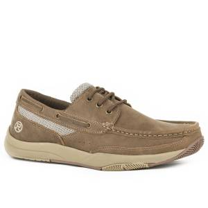 Roper Mens Clearcut Lace Up Boat Shoes