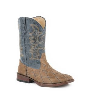 Roper Mens Cross Cut Square Toe Western Boots