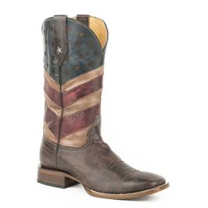 Roper Mens Old Glory Square Toe Cowboy Boots