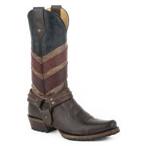 Roper Badge Boot - Mens - Burnished Brown