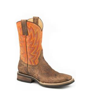 Roper Mens Fireworks Square Toe Western Boots