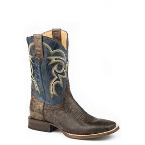 Roper Chisholm Boot - Mens -  Marbled Brown/Blue
