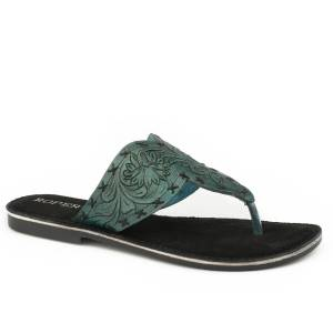Roper Ladies Juliet Hand Tooled Thong Sandals