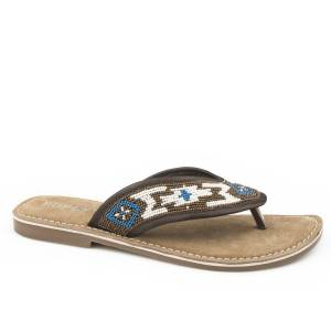 Roper Ladies Penelope Beaded Thong Sandals