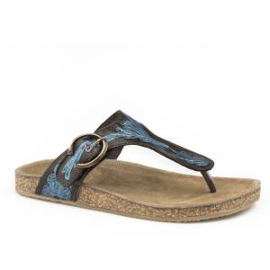 Roper Ladies Mira Tooled Thong Sandals