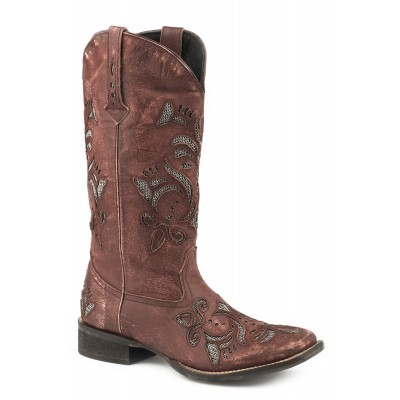 Roper Ladies Faye Square Toe Leather Boots