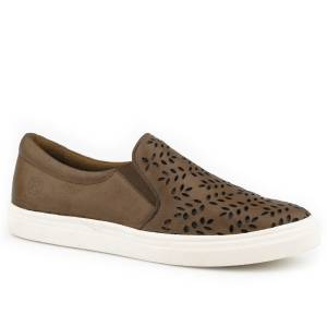 Roper Ladies Mane Casual Slip On Leather Shoes