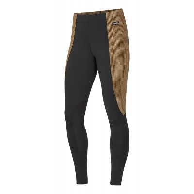 Kerrits Ladies Flow Rise Knee Patch Performance Houndstooth Tights