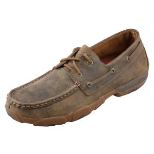 Twisted X Mens Boat Shoe Driving Mocs