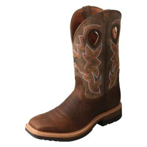 Twisted X Mens Alloy Toe Lite Western Work Boots