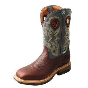 Twisted X Mens Alloy Toe Lite Waterproof Western Work Boots