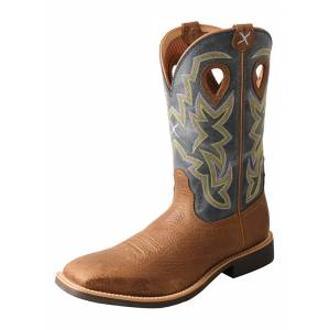 Twisted X Mens Top Hand Wide Square Toe Boots