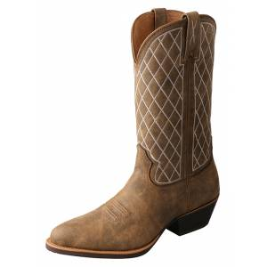 Twisted X Mens Western R Toe Boots
