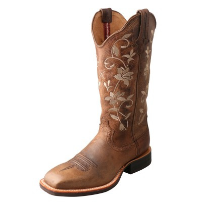 Twisted X Ladies Ruff Stock Wide Square Toe Boots