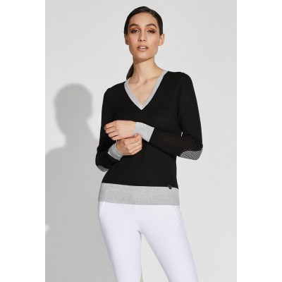 Noel Asmar Ladies Jane V-Neck Merino Sweater