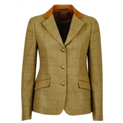 Dublin Ladies Albany Tweed Suede Collar Tailored Jacket
