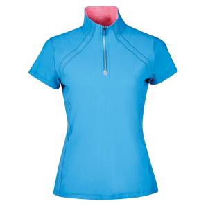 Dublin Ladies Maddison Technical Airflow 1/4 Zip Short Sleeve Top
