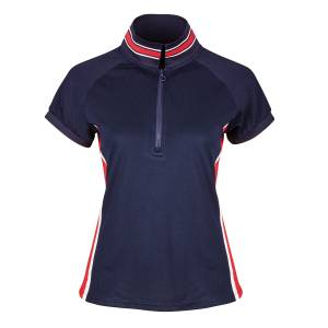 Dublin Ladies Alexis Short Sleeve Team Dublin Technical 1/4 Zip Polo