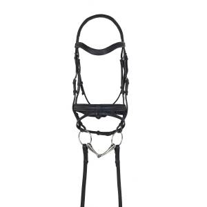 Ovation Rosegold Dressage Bridle with Crank Noseband and Flash