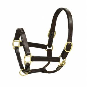 HK Americana Fancy Stitched Self-Padded Leather Halter
