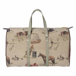 Huntley Equestrian Tapestry Duffle Bag - Western Equestrian Style