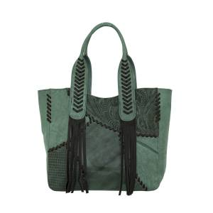 American West Gypsy Patch Large Zip-Top Tote