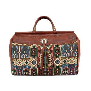 American West Bella Beau Tapestry Carry On Duffle Bag